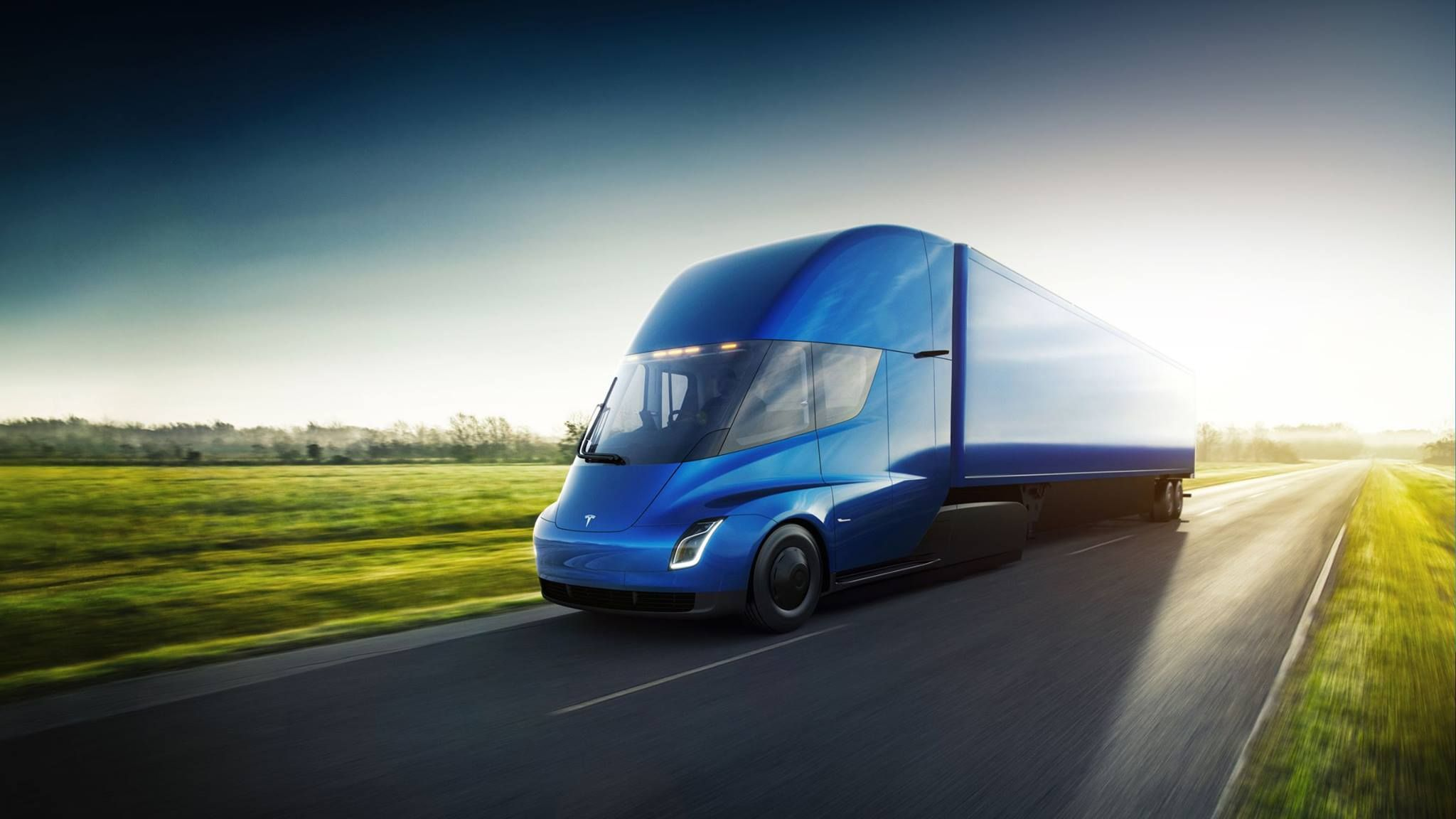 Avistado camión de Tesla en pruebas