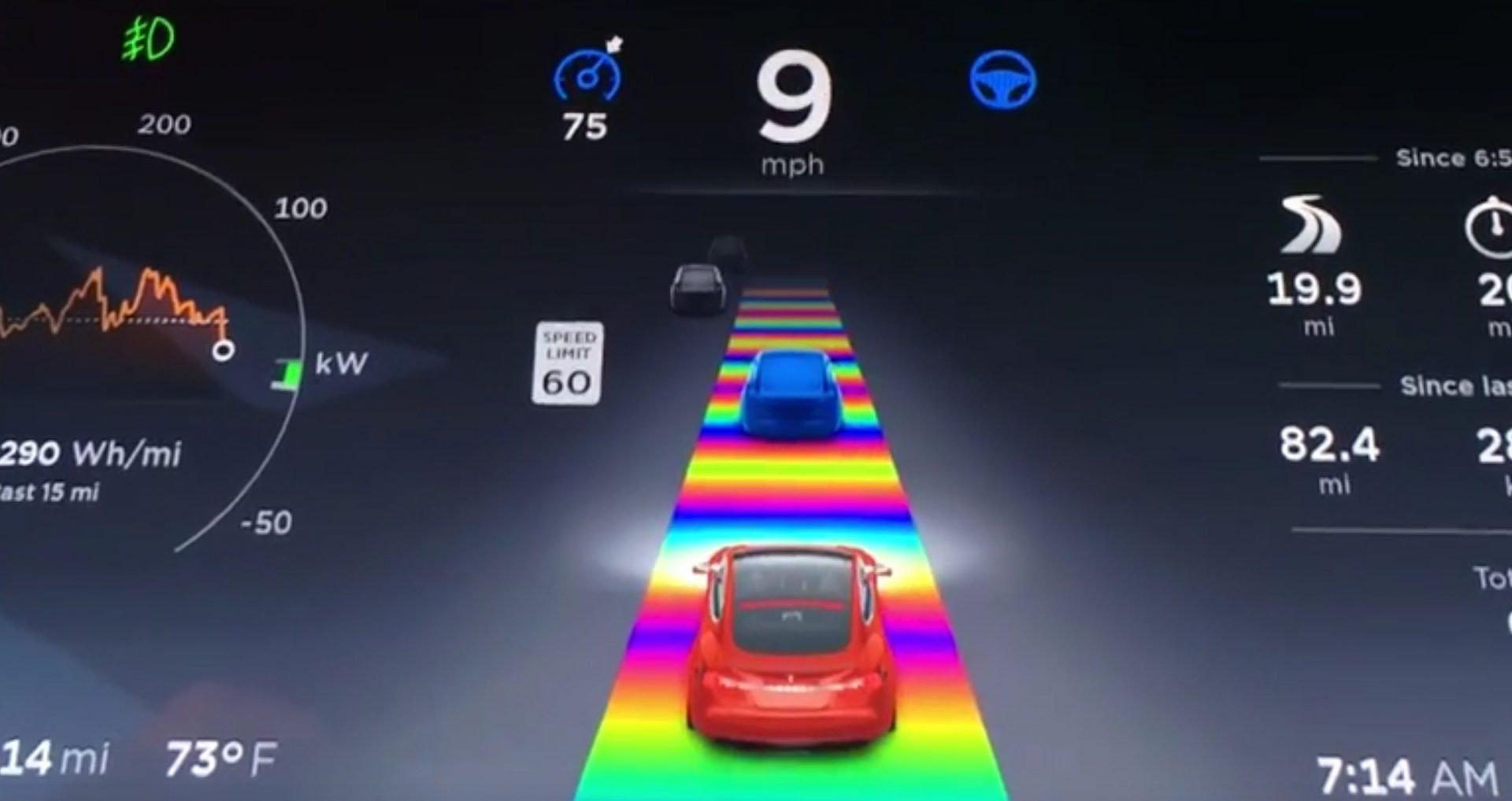 Tesla esconde nuevos easter eggs en su versión V9.0