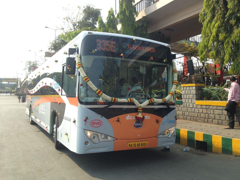 India recibirá 480 autobuses eléctricos de BYD