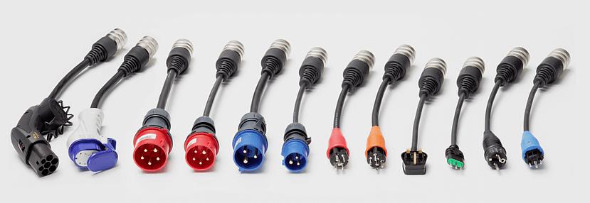 Juice Booster 2 - 9x Adaptadores (CEE16 230V (Camping),CEE16 400V 16A, CEE32 230V, CEE32 400V 32A, T13 (China), Tipo G (Gran Bretaña), Tipo L (Italia), Schuko, Mennekes)