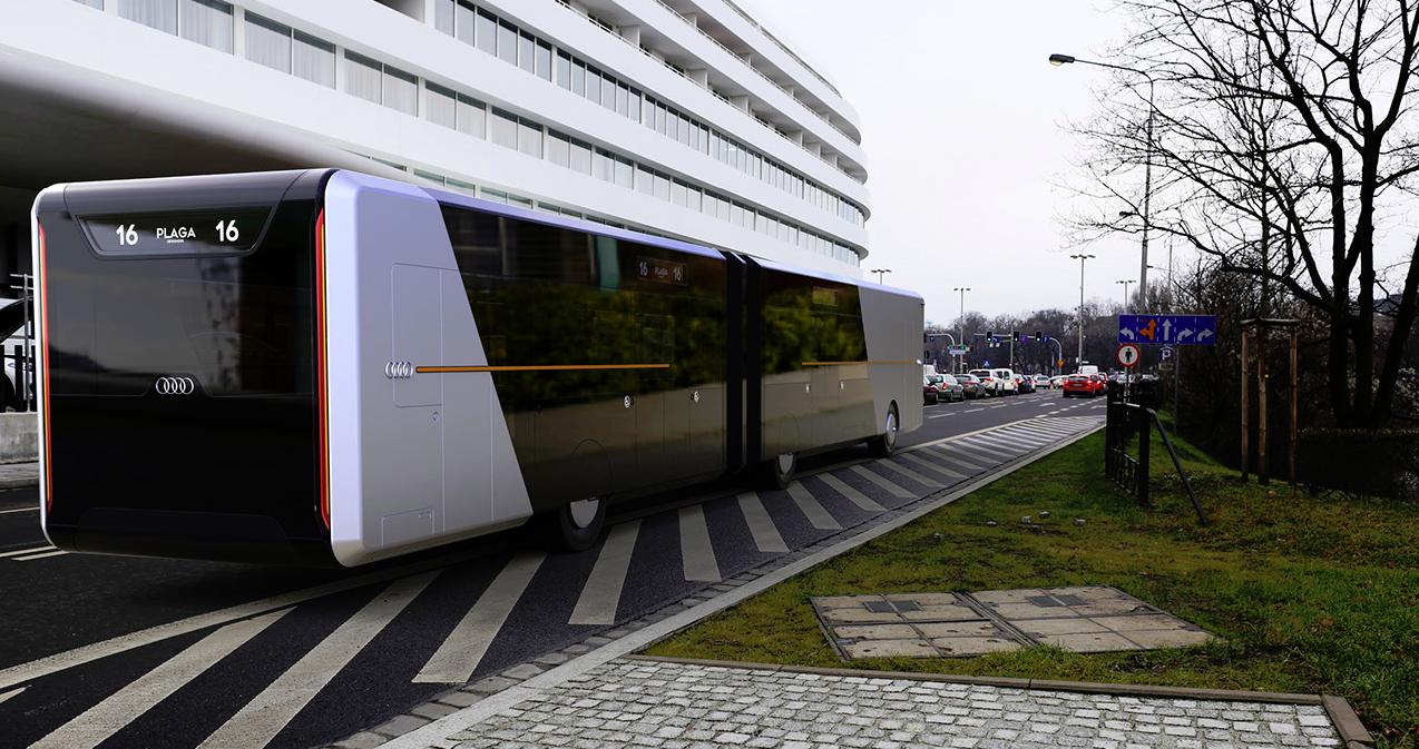 Audi City Bus: el autobús del futuro