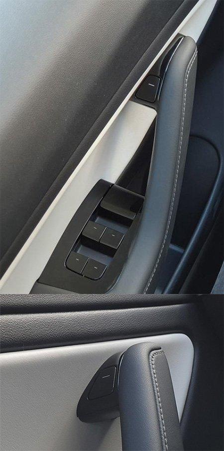 botón para abrir la puerta de tesla model 3