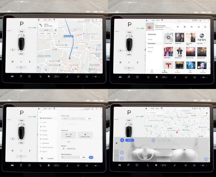 pantalla multimedia tesla model 3