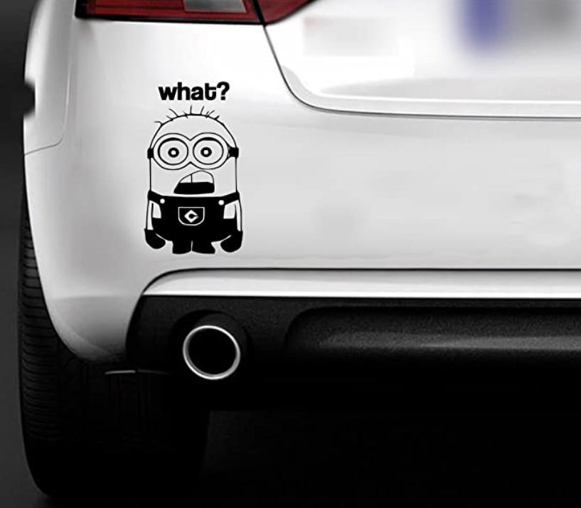 pegatinas divertidas para coche